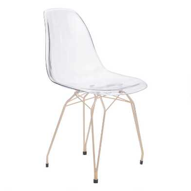 Clear Molded Adams Dining Chairs Set of 2