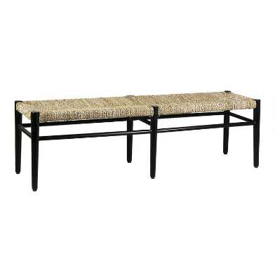 Natural Woven Seagrass Skyline Bench