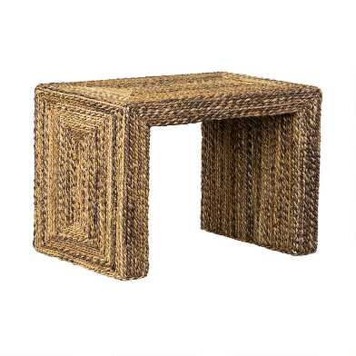 Natural Braided Seagrass Henry Accent Table