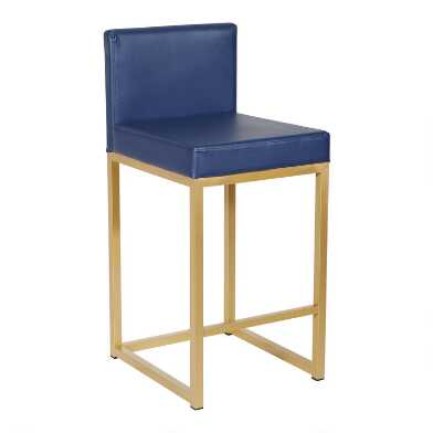 Faux Leather Jayden Upholstered Counter Stool Set of 2
