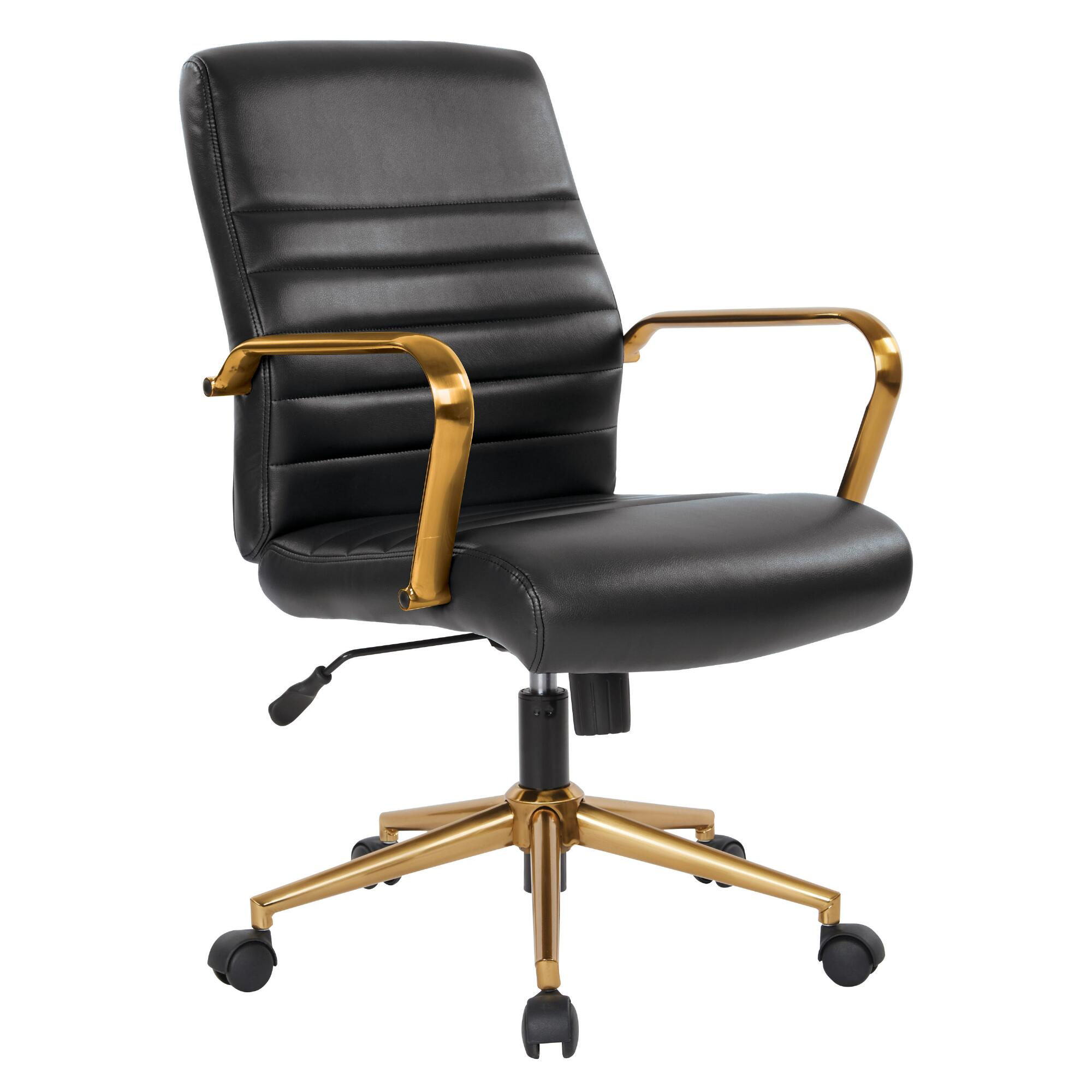 Decals For Baby Room, Faux Leather And Gold Armstrong Upholstered Office Chair World Market