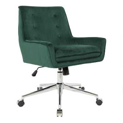 Velvet Landon Upholstered Office Chair