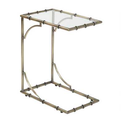 Antique Brass and Glass Bella Laptop Table