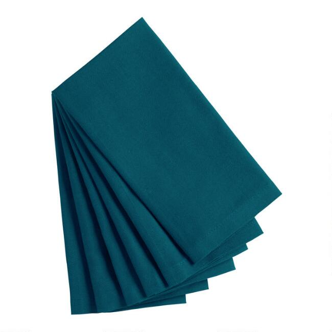 Moroccan Blue Buffet Napkins Set Of 6