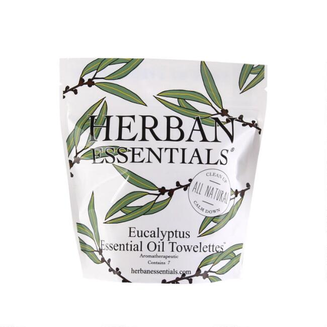 Herban Essentials Eucalyptus Essential Oil Wipes 7 Count
