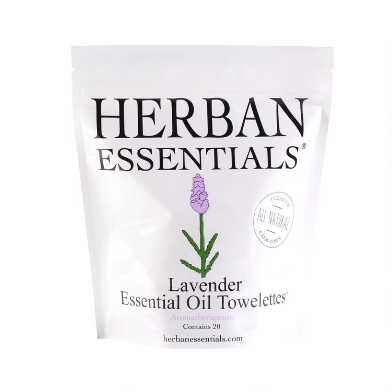Herban Essentials Lavender Essential Oil Wipes 20 Count
