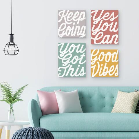 Positivity By Laura Marshall Canvas Wall Art World Market