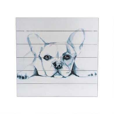 Wood Plank Pup Sketch Wall Art