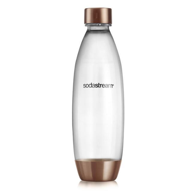 Rose Gold SodaStream® 1L Slim Carbonating Water Bottle