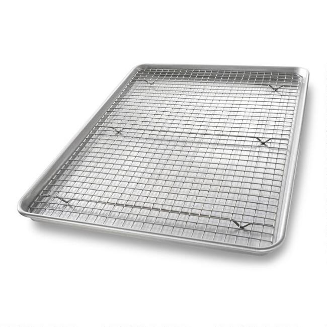 USA Pan® Nonstick Metal Baking Sheet and Cooling Rack Set
