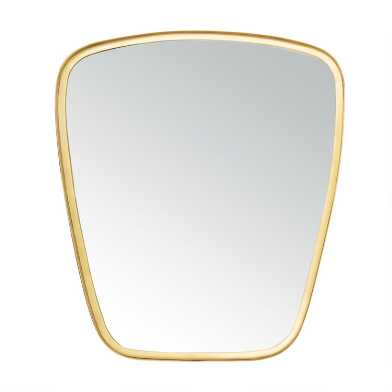 Rounded Gold Tapered Mirror