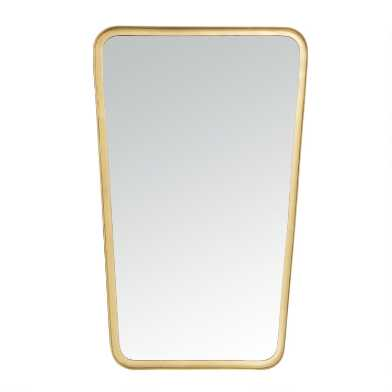 Brushed Brass Rectangular Tapered Mirror
