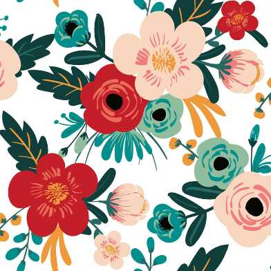 Cheerful Poppies Peel And Stick Wallpaper