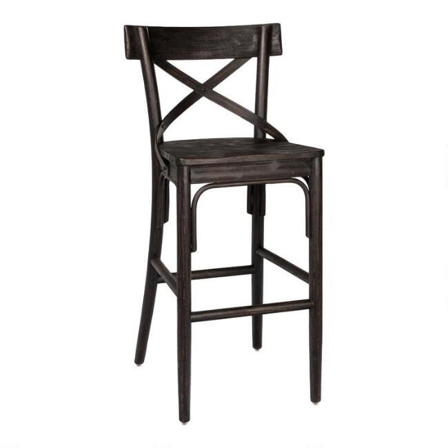 Distressed Wood Bistro Barstool