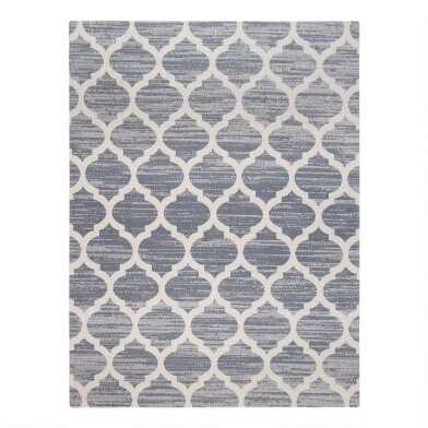 Gray And Beige Trellis Office Chair Mat