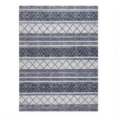 Gray Geometric Stripe Office Chair Mat