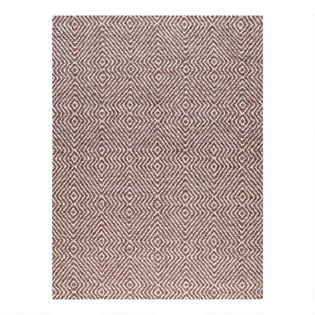 Brown And Ivory Double Diamond Office Chair Mat