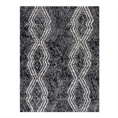 Black And White Diamond Stripe Office Chair Mat