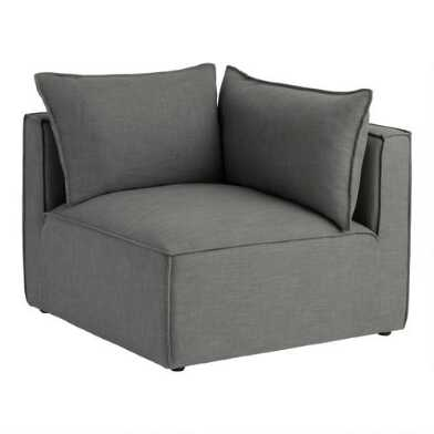 Gray Tyson Modular Sectional Corner End Chair