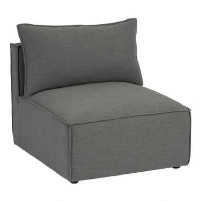 Gray Tyson Modular Sectional Armless Chair