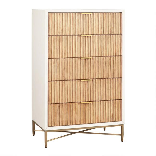 Textured Wood Ashbury Chest of Drawers