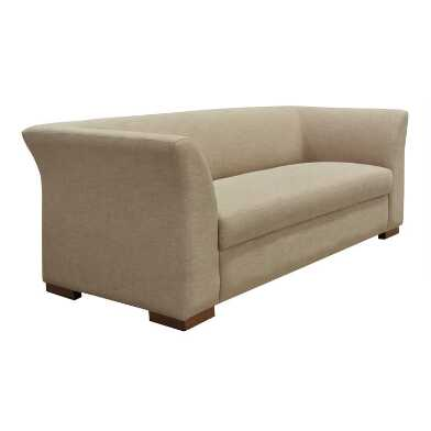 Taupe Flared Arm Zelma Sofa