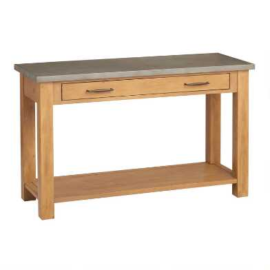 Faux Cement and Wood Cordova Console Table