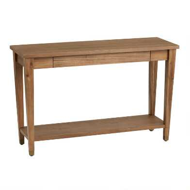Wood Tapered Leg Vance Console Table