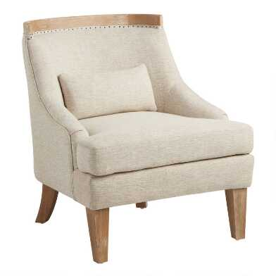 Exposed Wood Ruth Upholstered Chair