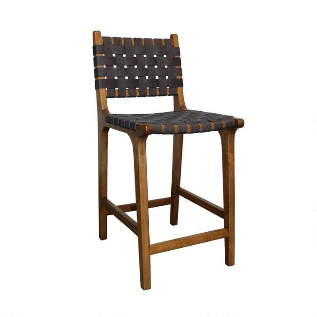 Faux Suede Strap Camden Counter Stool Set of 2