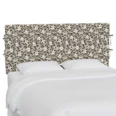 Fiona Floral Natural Larisa Slipcover Upholstered Headboard