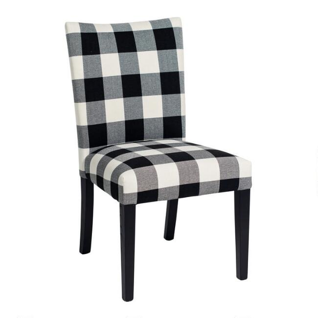 Black and White Check Howard Dining Chairs Set of 2