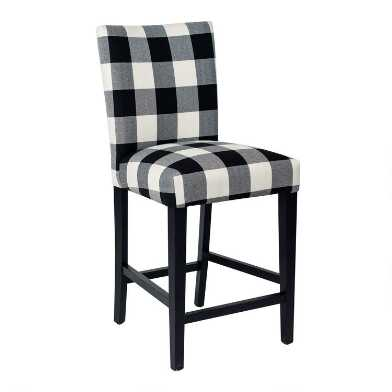 Black and White Check Howard Counter Stool