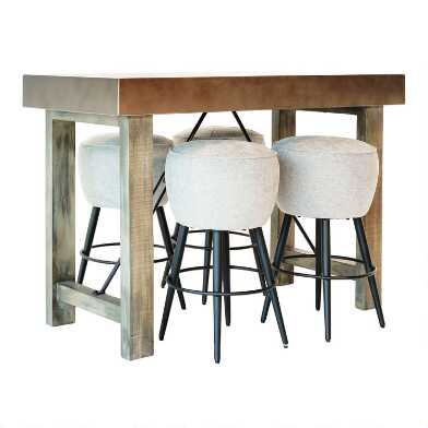 Metal and Wood Sonoma Counter Height Dining Collection