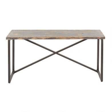 Antique Black Reclaimed Pine Sita Console Table