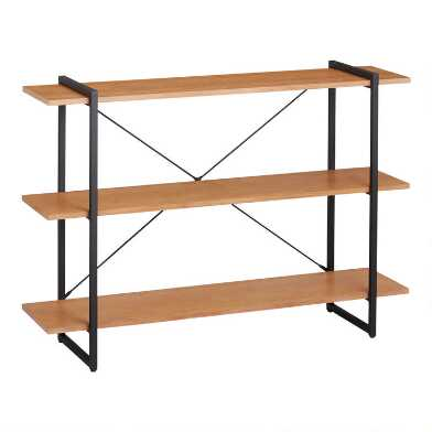 Small Distressed Metal and Wood Amador Bookshelf