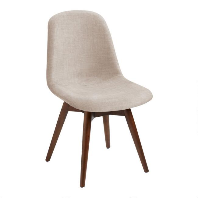 Mid Century Molded Edith Upholstered Swivel Dining Chair