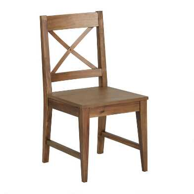 Wood Tapered Leg Vance Dining Chair Set of 2