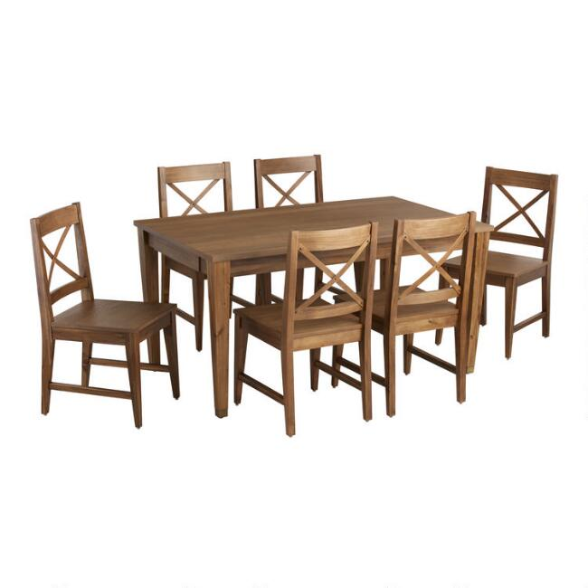 Wood Tapered Leg Vance Dining Collection
