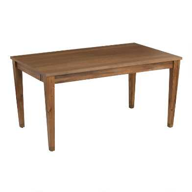 Wood Tapered Leg Vance Dining Table with Drawers