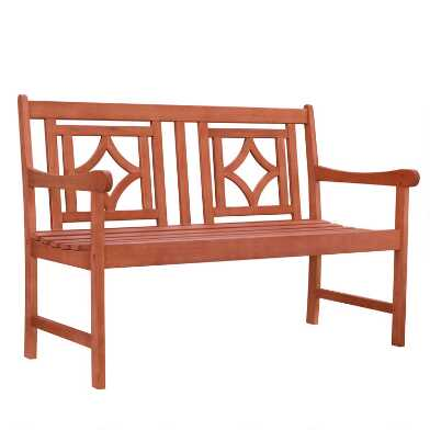 Natural Eucalyptus Keoni Outdoor Bench
