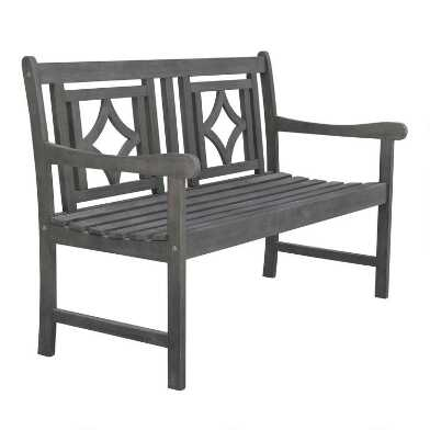 Gray Acacia Malana Outdoor Bench
