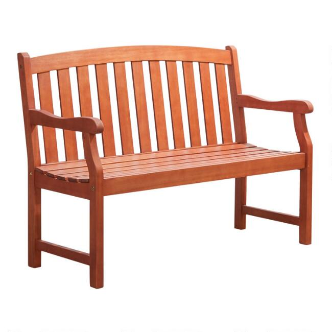 Natural Eucalyptus Anika Outdoor Bench