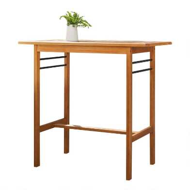 Natural Eucalyptus Keon Outdoor Pub Dining Table