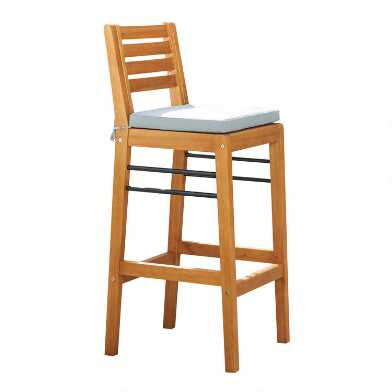 Natural Eucalyptus Keon Outdoor Barstool