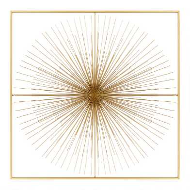 Gold Starburst Framed Wall Decor