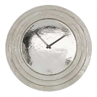 Silver Layered Rim Wall Clock