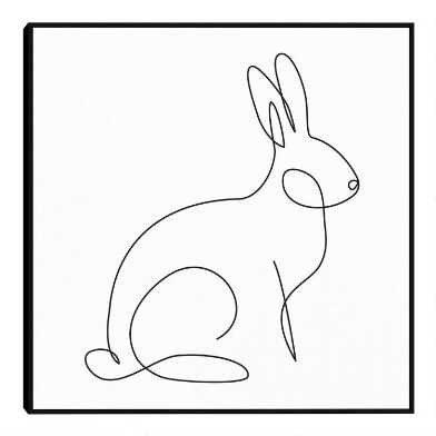 Bunny By Design Lab Framed Canvas Wall Art