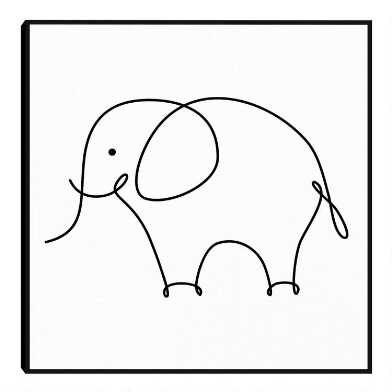 Elephant By Design Lab Framed Canvas Wall Art