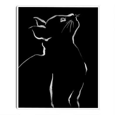 Feline Friends Look By Kristine Hegre Framed Canvas Wall Art